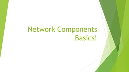 Network Components Basics!. Network HUB  Used to connect multiple Ethernet devices together  Layer 1 of the OSI model  Not used much today.