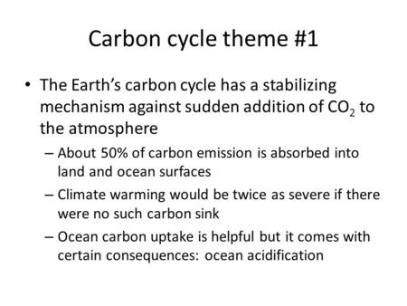 how co2 effects the earths oceans According to a new international study using nasa satellite data, sizable parts of the earth have shown significant greening over the last 35 years largely due to.