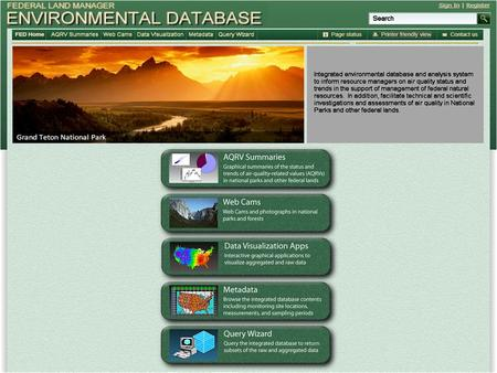 Air Quality Relative Values Data Summaries Graphical summaries of the current air quality status and trends in National Parks and other federal lands.