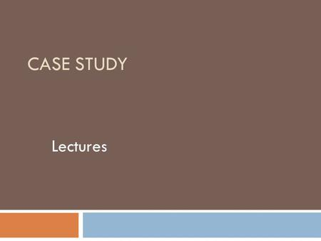 CASE STUDY Lectures. Tips for professors  Do not lower standards to accommodate students with a disability.  Give your BVI students an opportunity to.