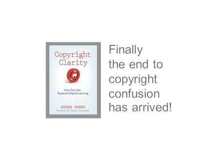 Finally the end to copyright confusion has arrived!