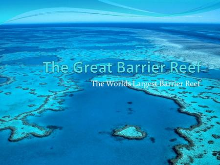 The Worlds Largest Barrier Reef