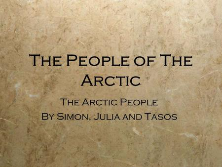 The People of The Arctic