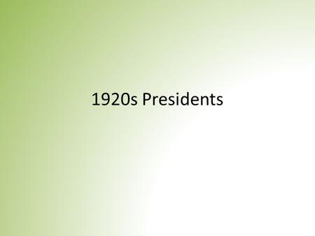 1920s Presidents. Vocab Normalcy – consequence of being usual or regular or common Isolationism – a policy of nonparticipation in or withdrawal from international.