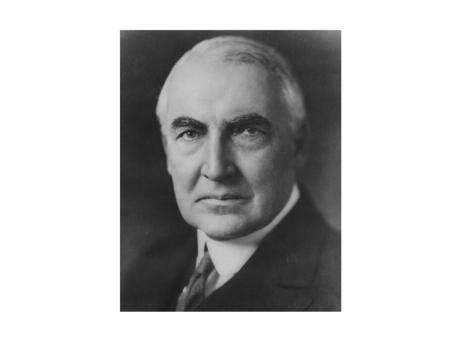 Warren G. Harding President from 1921-1923 America's present need is not heroics but healing; not nostrums, but normalcy; not revolution, but restoration;