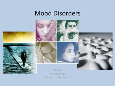 Mood Disorders Mr. Koch AP Psychology Forest Lake High School.