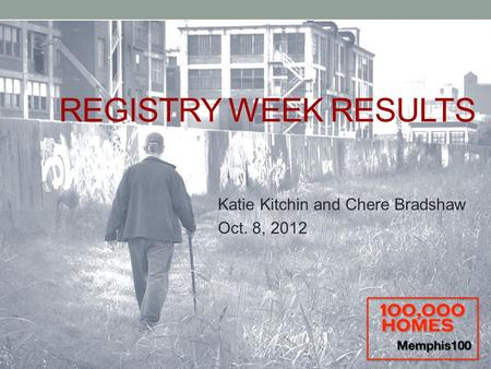 REGISTRY WEEK RESULTS Katie Kitchin and Chere Bradshaw Oct. 8, 2012.