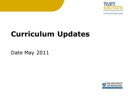 Curriculum Updates Date May 2011. Progression Diagrams How learning progresses between the indicators within and across levels for each component of the.