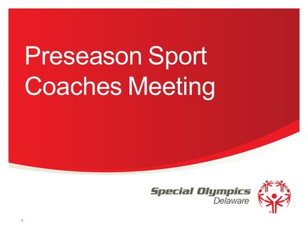 Preseason Sport Coaches Meeting