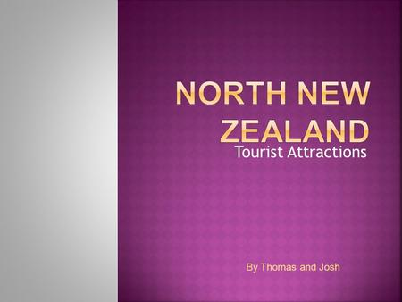 Tourist Attractions By Thomas and Josh. 10 years prior to the treaty, the Maori Chiefs were encouraged to form a government but the chiefs could not agree.