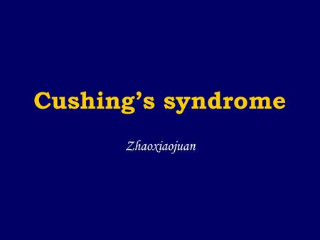 Cushing's syndrome Zhaoxiaojuan. Effects of glucocorticoid Effects on metabolism Effects on immunologic function and inflammatory Effects on musculoskeletal.