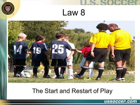 1 Law 8 The Start and Restart of Play. 2 At the end of this lesson the student will: Objectives demonstrate a properly dropped ball state the proper position.
