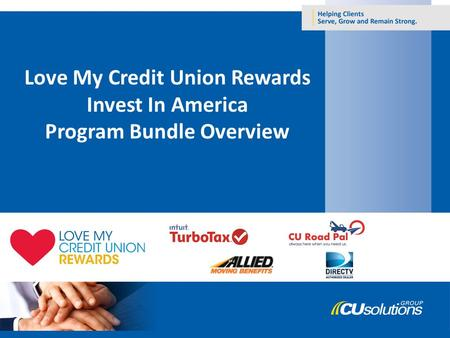 Love My Credit Union Rewards Invest In America Program Bundle Overview.