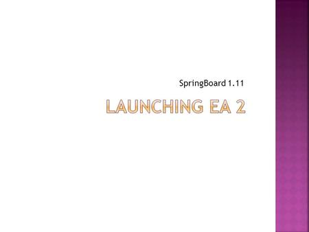 SpringBoard 1.11.  In the first part of this unit, you read short stories and studied elements that help create a writer's style.  By writing your own.