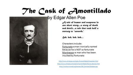 foreshadowing fate in cask of amontillado essay