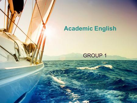 Academic English GROUP 1. Annotated bibliography  An annotated bibliography provides a brief account of the available research on a given topic. It is.