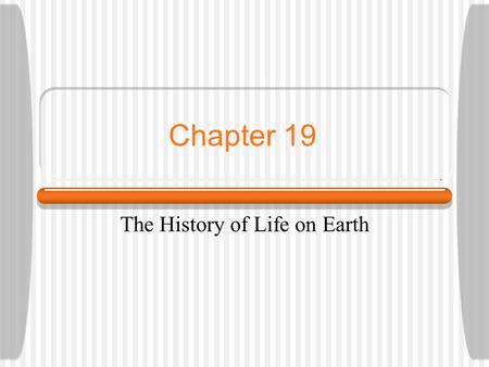 Chapter 19 The History of Life on Earth. The Basic Chemicals of Life Oparin and Haldane hypothesized that the early earth contained hydrogen gas, water.