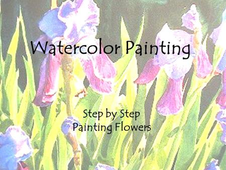 Watercolor Step by step Flowers Watercolor Painting Step by Step Painting Flowers.