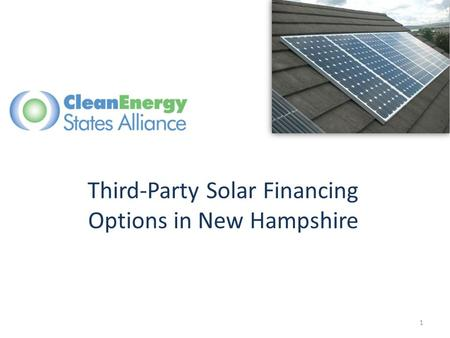 Third-Party Solar Financing Options in New Hampshire 1.