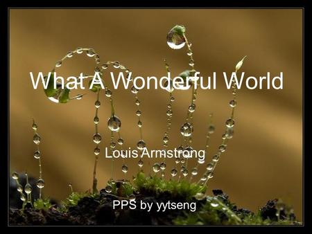 What A Wonderful World Louis Armstrong PPS by yytseng.