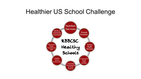 Healthier US School Challenge. Don't do it alone… Get your parents involved- they are the best advocates ever! Get your students involved-best voice for.