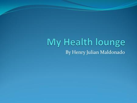 By Henry Julian Maldonado. Why should doctors get it? My health lounge is a professional mobile application that enables physical therapists to create.