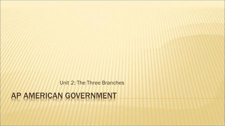 "Unit 2: The Three Branches.  Early Examples – The Bank of the United States and the Post Office  ""Necessary and Proper Clause""  Created by Congress."