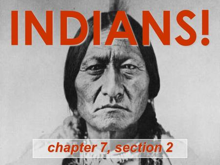 INDIANS! chapter 7, section 2. INDIANS! Actually, this is India. (Don't get confused.)