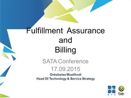 Fulfillment Assurance and Billing