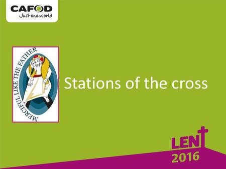 Stations of the cross. The first Station: Jesus is condemned to death.