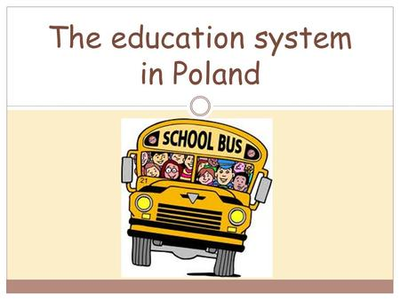The education system in Poland