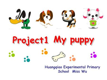 Huangqiao Experimental Primary School Miss Wu Project1 My puppyProject1 My puppy.