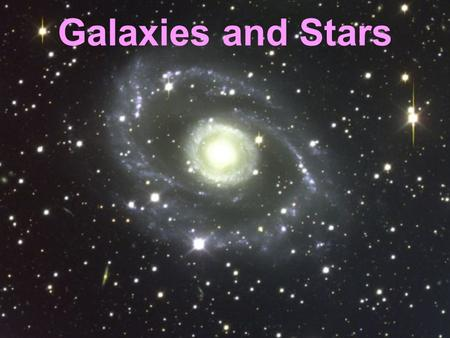 Galaxies and Stars. The Milky Way The galaxy we live in is called The Milky Way. It is disc- shaped.