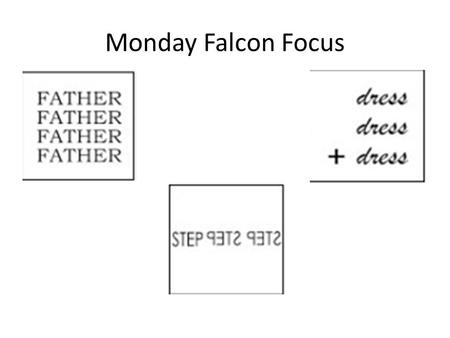 Monday Falcon Focus Forefathers One step forward, two steps back
