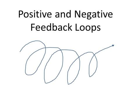 Positive and Negative Feedback Loops. A. Negative Feedback CO 2 O2O2 1. Control System that counteracts any change in the body that moves conditions above.
