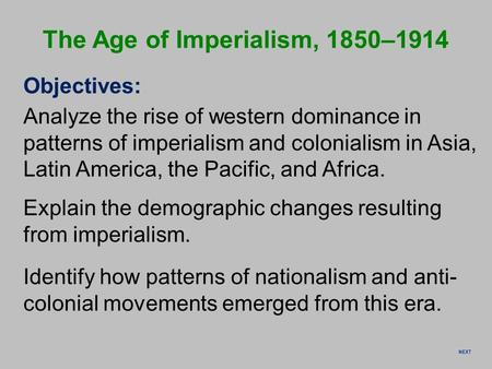 an analysis of the topic of imperialism policy