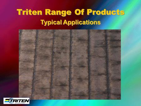 Typical Applications Triten Range Of Products. Flat Liners Quarry.
