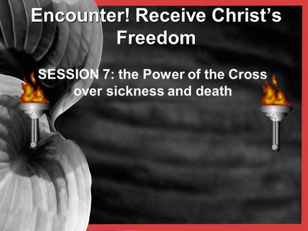 Encounter! Receive Christ's Freedom SESSION 7: the Power of the Cross over sickness and death.