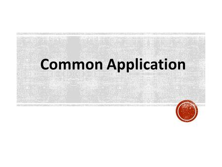 Dr. Landeros College Counselor Camino Nuevo High School No. 2 Common Application.