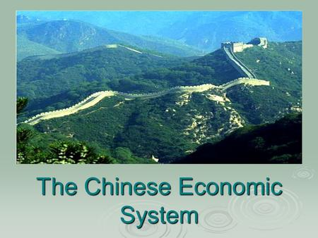 The Chinese Economic System. Goods and services produced.  Machinery and electrical equipment: 16.116 billion U.S. dollars were exported.  Garments.