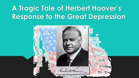 Where was the Great Depression?