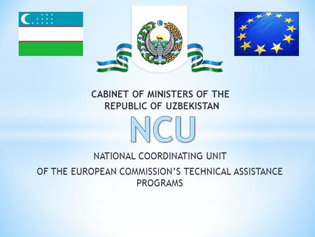 NATIONAL COORDINATING UNIT OF THE EUROPEAN COMMISSION'S TECHNICAL ASSISTANCE PROGRAMS CABINET OF MINISTERS OF THE REPUBLIC OF UZBEKISTAN.