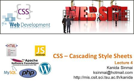 CSS – Cascading Style Sheets. Styling HTML with CSS CSS stands for Cascading Style Sheets Styles can be added to HTML in 3 ways – Inline - using a style.