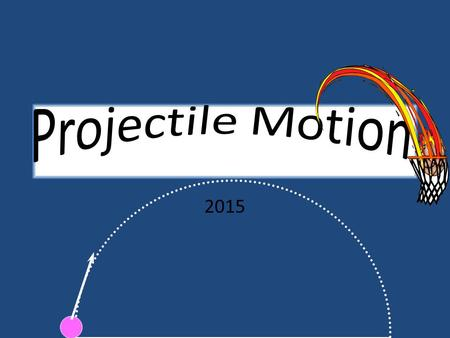 2015 What is projectile motion? Any object that moves through air or space is a form of two-dimensional motion that deals with the motion of objects.
