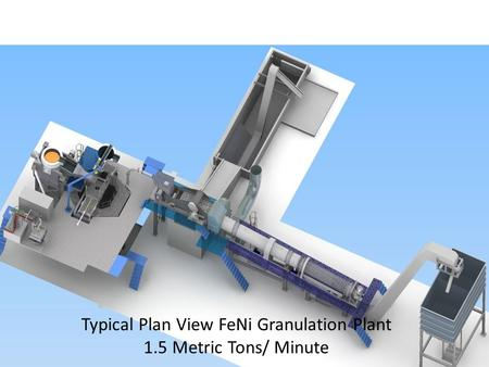 Typical Plan View FeNi Granulation Plant 1.5 Metric Tons/ Minute.