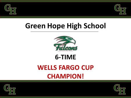 Green Hope High School 6-TIME WELLS FARGO CUP CHAMPION!