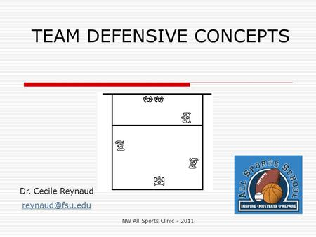 TEAM DEFENSIVE CONCEPTS Dr. Cecile Reynaud NW All Sports Clinic - 2011.