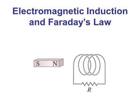 Electromagnetic Induction and Faraday's Law. Induced EMF Almost 200 years ago, Faraday looked for evidence that a magnetic field would induce an electric.