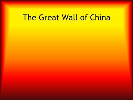 The Great Wall of China. The great wall of China is 50,000* kilometers, or approximately 31,070 miles. *When including all the walls built in different.