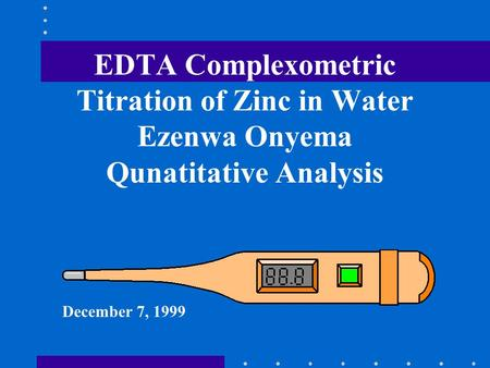 Complexometric determination of water hardness Research Paper Help